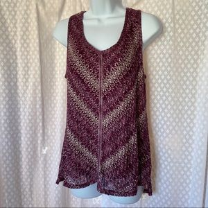 NEW WHBM Knit Purple top Size M